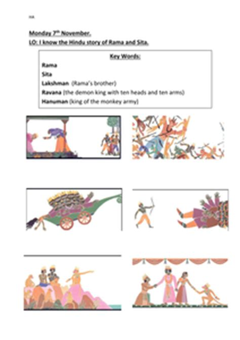 tes new year story resources sequencing the story of rama and sita diwali by