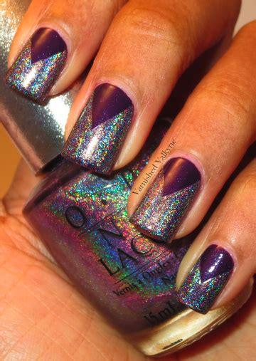 Holo Studded varnished valkyrie studded purple holographic goodness
