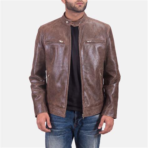 Jaket Kulit Carlit Jaket Kulit Brown mens latte brown leather jacket
