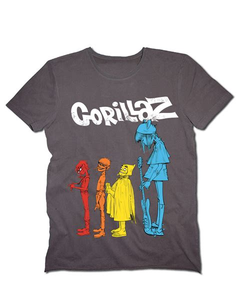 T Shirt Gorillaz 6 lified mens gorillaz crew 100 cotton shirt ebay
