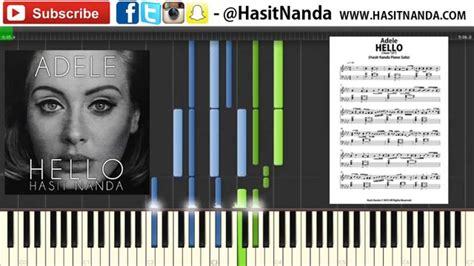 hello keyboard tutorial adele adele hello piano tutorial sheets youtube