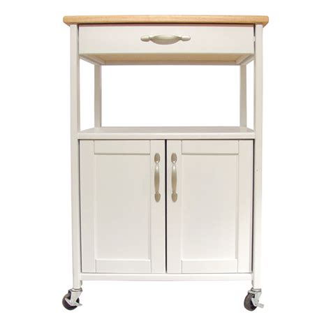 Kitchen Trolley by White Kitchen Trolley With Lacquered Hardwood Top