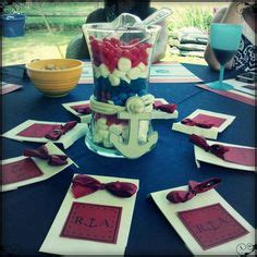 sailor themed centerpieces wheels nautical and bridal shower favors on