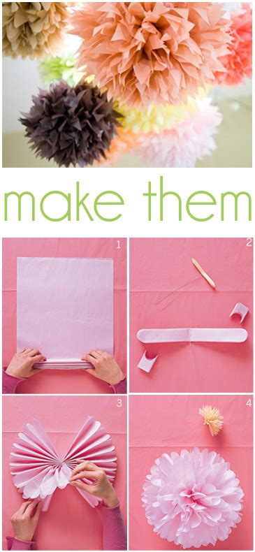 How To Make Paper Pom Poms - how to make tissue paper pom poms thoughtfully simple