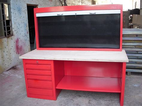 garage work bench for sale cold rolled steel garage use workbench with wood top buy