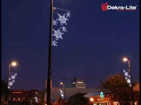 light pole decorations dekra lite commercial outdoor