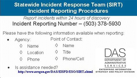 State Of Oregon Oscio Security Incident Response Security Response Plan Template