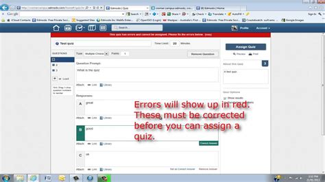 edmodo quiz creator edmodo training create and edit quizzes and polls youtube