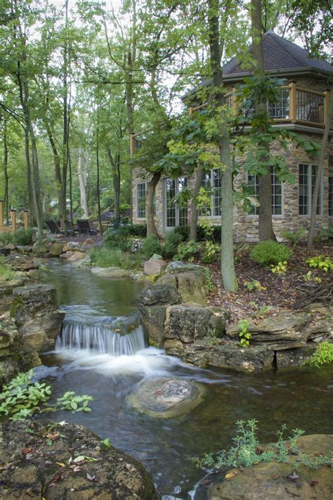 Pictures Of Backyard Waterfalls And Streams by Waterfalls And Streams Run Throughout The Backyard