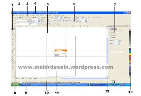 menu bar coreldraw x4 pengenalan interface corel draw x4 belajar mudah desain