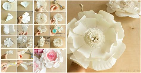 Show Me How To Make Paper Flowers - diy easy to make paper plate flower usefuldiy