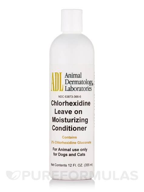 leave in conditioner for dogs adl chlorhexidine leave on moisturizing conditioner for dogs and cats 12 fl oz 355 ml