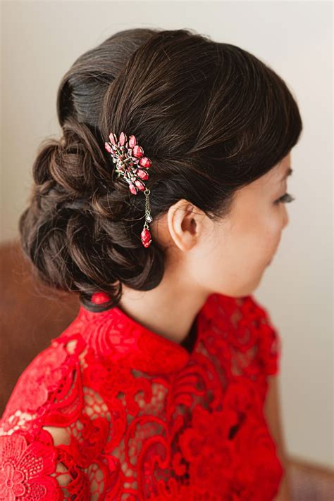 asian bridesmaid hairstyles with color simple elegant modern hairstyle that goes with chinese