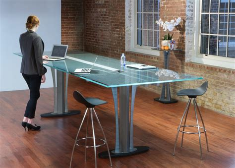table standing standing height conference table stoneline designs