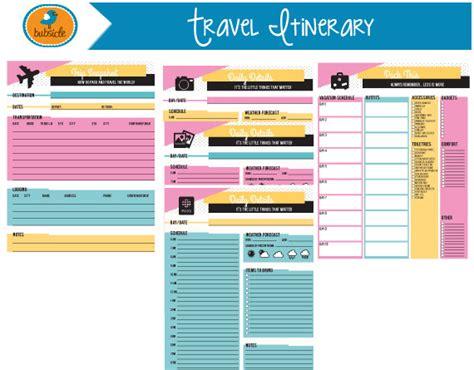 Editable Digital Planner Travel Planner Printable Vacation Travel Planning Template