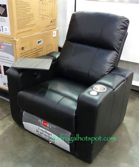 pulaski furniture leather home theater power recliner
