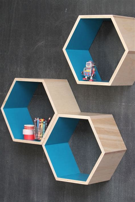 turquoise honeycomb shelves interior design for smoll