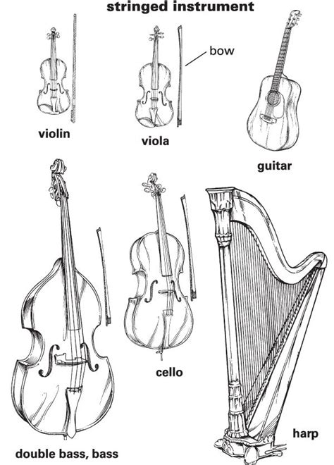 coloring pages instruments of the orchestra stringed instrument definition for english language