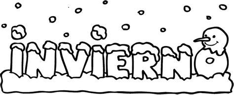 imagenes de invierno infantiles para colorear dibujo infantil gratis para colorear con la palabra invierno