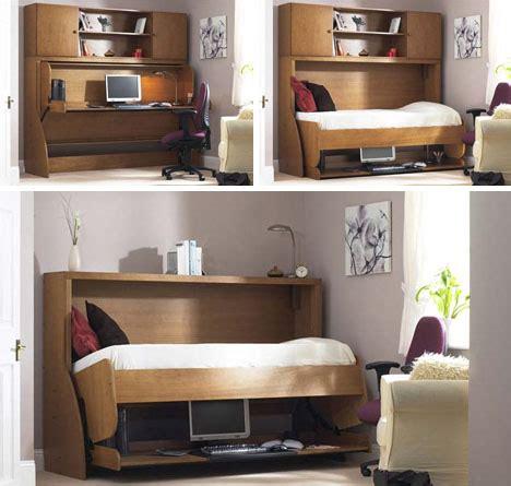 fold  bed conceals messy desks designs ideas  dornob