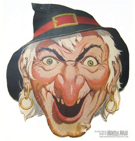 Printable Vintage Halloween Masks | sheesh and they think today s halloween stuff is scary