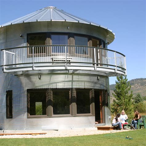 Grain Silo Home Plans | silo house in utah grain silos rock modern house designs