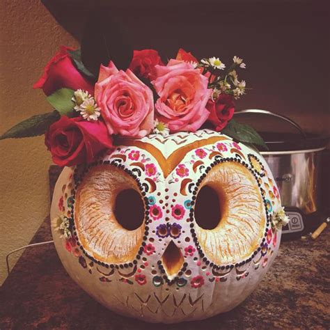 Pumpkin Decorating Contest Winners by Sugar Skull Owl For The 2014 Pumpkin Carving Contest