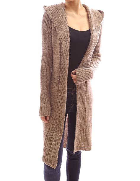 open knit cardigan patty s hooded sleeve knit open cardigan at