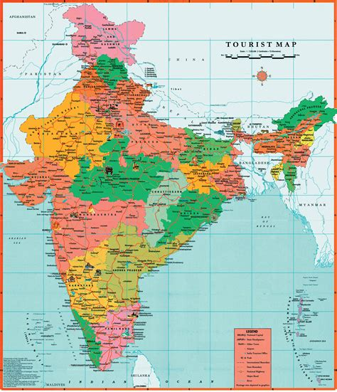 of map maps of india detailed map of india in tourist