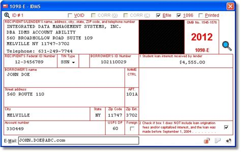 irs section 6050w 1098 e user interface student loan interest statement