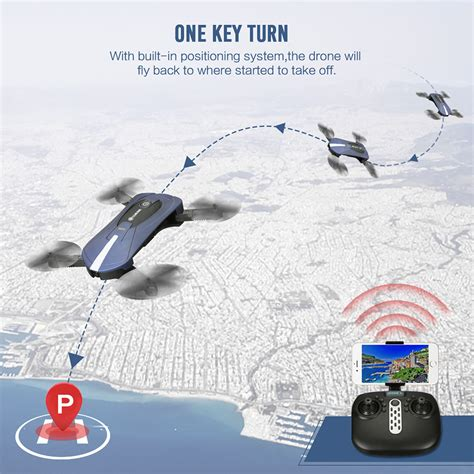 Eachine E52 Wifi Fpv Foldable Selfie Drone Dji Spark Trainer Murah eachine e52 bluewifi fpv with high hold mode foldable arm