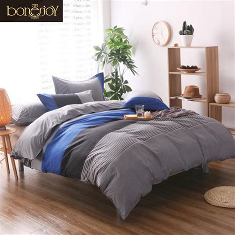 enjoy bedding bon enjoy 2017 blue white striped quilt covers plaid