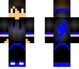 Lightning Boy Lightning Boy Navy Blue Minecraft Skin