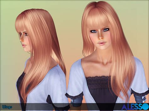 wing hairstyle wings hairstyle by alesso sims 3 hairs