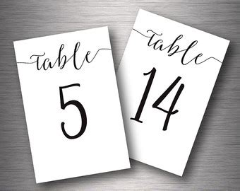what size are number cards wedding number card size winter wonderland