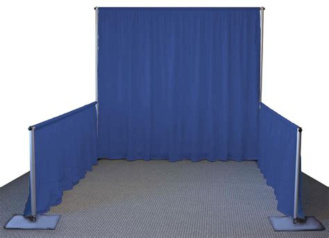 Pipe And Drape Booth quot single booth quot pipe and drape rental in iowa trade show kit