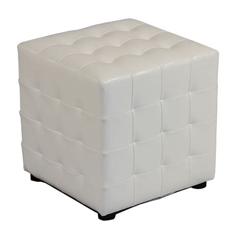 White Tufted Ottoman White Tufted Ottoman Corvallis Productions