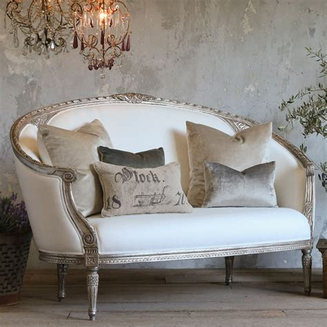 canap駸 vintage eloquence versailles canape antique silver sofa