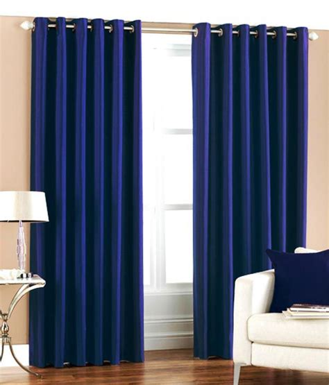 buy one get one free curtains hsr collection blue polyester door curtain 9 feet buy 1