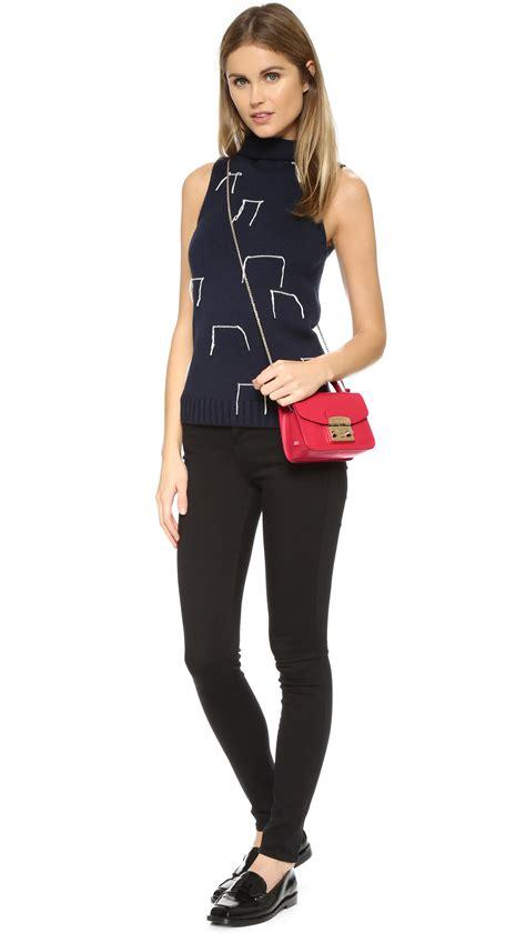 Furla Metropolis Top Handle furla metropolis top handle mini cross bag ruby in