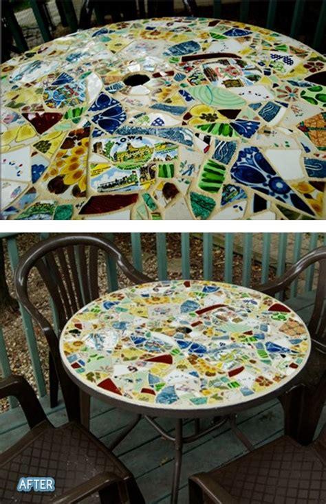mosaico con piastrelle rotte riciclo creativo piastrelle e piatti rotti 20 idee da
