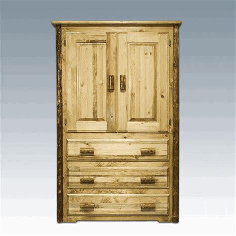 log armoire amish quot glacier quot pine log armoire