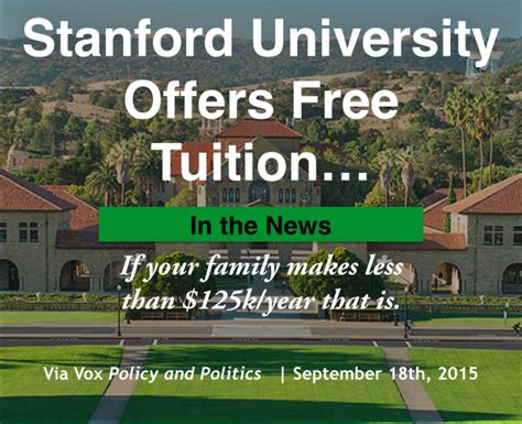 Stanford Mba Tuition 2015 by Stanford Offers Free Tuition Start