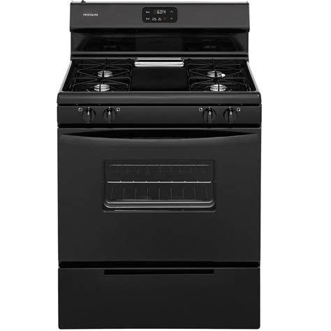 Oven Racks Lowes by Shop Frigidaire Freestanding 4 2 Cu Ft Gas Range Black Common 30 In Actual 29 875 In At