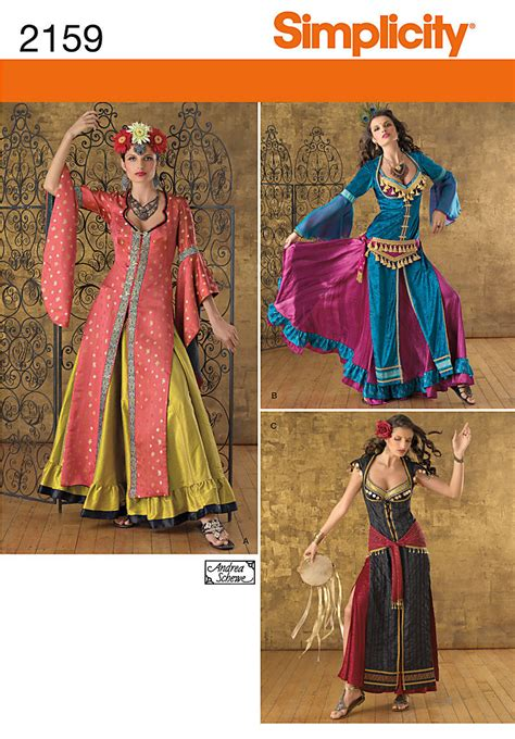 Givenchy Princess Bn 1702 belly dancer east indian costume simplicity 2159 size