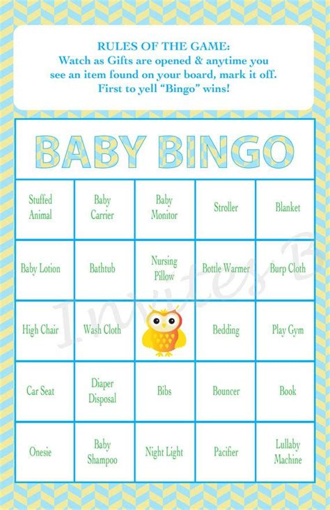 baby gift bingo template 25 best ideas about instant bingo on easy