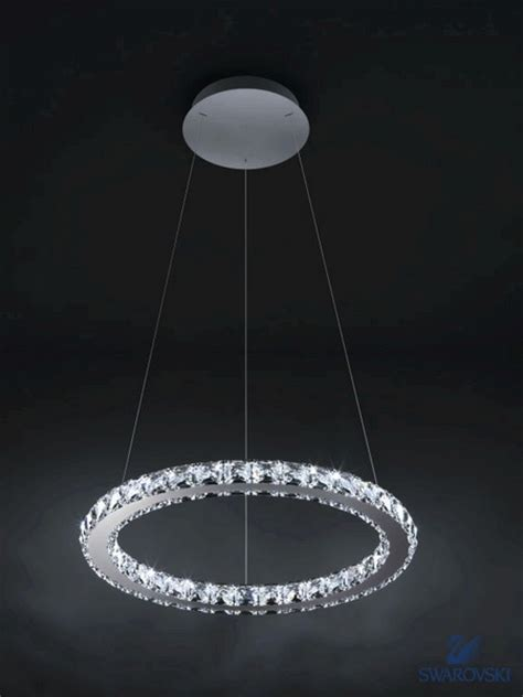 Circle Of Light Chandelier Swarovski Chandelier Circle Luminaire