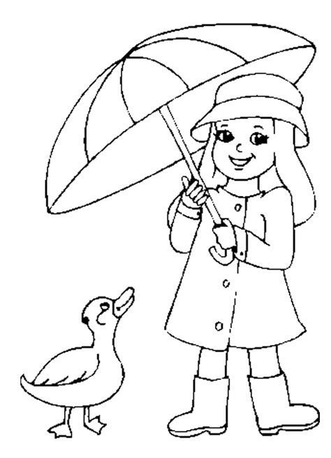 coloring pages rain coloring home