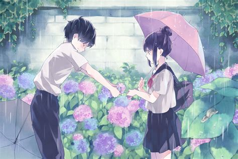 couple wallpaper with rain beautiful anime couple wallpaper hd images one hd
