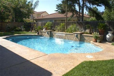 roman pool design water wall feature with roman shaped pool ultimate pools